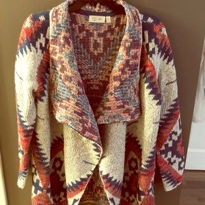 Sweaters - Long, chunky, flyaway cardigan